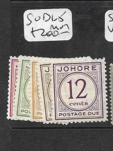 MALAYA JOHORE  (P2904B)    POSTAGE DUE SG D1-5  MOG