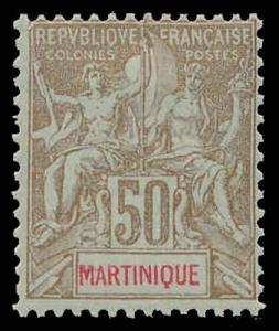 MARTINIQUE-a-Pre 1900 (to 53) 49  Mint (ID # 87820)