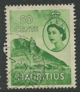 STAMP STATION PERTH Mauritius #260 QEII Definitive Issue FU 1953-1954