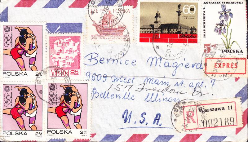 Poland Cover Lot 1960's-1970's Family Correspondence to USA