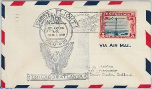 60117 - USA -  First Flight COVER: CHICAGO - ATLANTA: St LOUIS - AMC: 30 E8