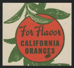 For Flavor - California Oranges - Vintage Poster Stamp