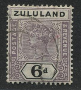 Zululand QV 1894 6d used