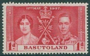 Basutoland 1937 SG15 1d red Coronation KGVI MLH