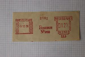 Netherland Amsterdam Postbus no268 metered postage mobile post office? cut