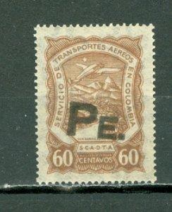 COLOMBIA 1923 SCADTA  60 Centavos OVPT for PERU CONSULAR...CAT. SANABRIA #SP7