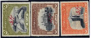 Bahawalpur 1945 sg O4 - O6 4a,8a, 1R, all lm mint