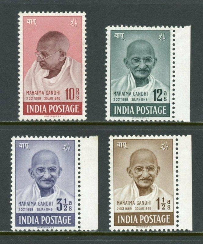 INDIA MAHATMA GANDHI SET  MINT  LIGHTLY HINGED SCOTT#203/06  SG#305/08