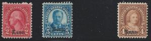 Scott 660, 2, 3, Never Hinged, Original Gum, 1929 Kansas-...