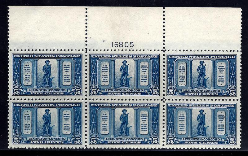 619 Mint,OG,NH... Plate Block of 6... SCV $275.00