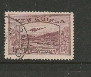 New Guinea 1939 Air 1 1/2d Used SG 214