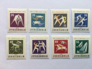 Yugoslavia 1960 Summer Olympics Rome Mi.909/916 MNH