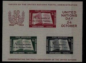 United Nations NY 38 MH s/s SCV95