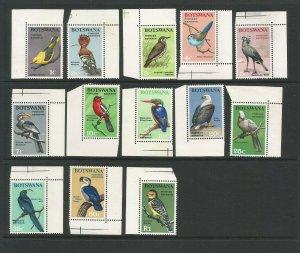 Botswana 1967 Birds Unmounted Mint Short Set (No 2r) SG 220/232