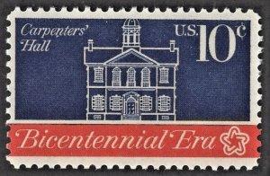 US 1543 MNH VF 10 Cent Carpenters' Hall