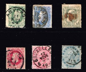 Belgium Stamp OLD USED STAMPS COLLECTION LOT #2