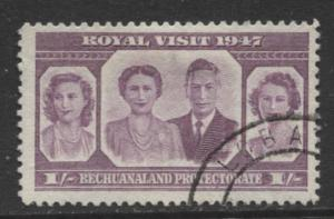 Bechuanaland - Scott 146 - KGVI - Royal Visit -1947 - Used - Single 1/- Stamp