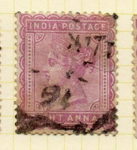 India 1882 Early Issue Fine Used 8a. 325904