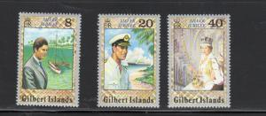 GILBERT ISLANDS #293-295   1977  SILVER JUBILEEMINT  VF NH  O.G