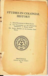 Studies in Colonial History - Early History  Colonial P.O.