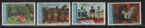 SWAZILAND 582-585 (4) set,  Hinged, 1991 Coronation of King Mswati III 5th anniv