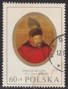 Poland 1750 USED 1970 King Stefan Batory
