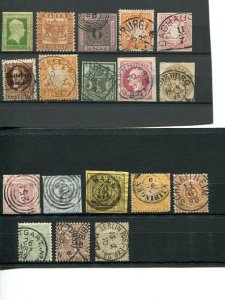 German States  Used/Mint, cancels  HICV  sound  - Lakeshore Philatelics