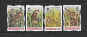 BIRDS - SWAZILAND #624-7  MNH