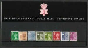 1987 Regional Machin Northern Ireland 12p to 31p Presentation Pack no 12 Cat £20