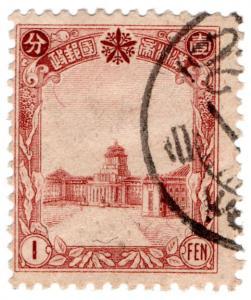 (I.B) China Revenue : Duty Stamp 1f (Manchukuo)