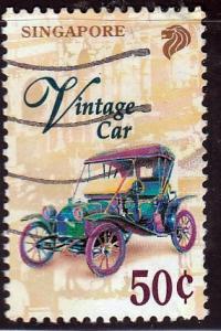 Singapore #786 Vintage Car, used.PM