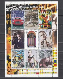 Niger, 1998 Cinderella issue. 1940-1949. Events of 20th Century sheet of 9.