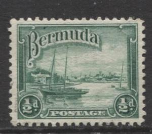 Bermuda - Scott 105 - Hamilton Harbor - 1936 - FU - Single - 1/2d Stamp