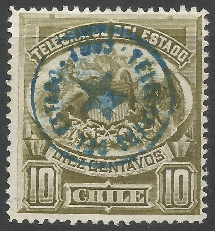 CHILE TELEGRAPHS 2 VFU P443