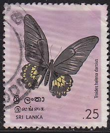 Sri Lanka 534 Used 1978 Birdwing Butterfly