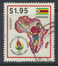 Zimbabwe SG 912  SC# 744 Used  1995 Africa Games  see detail and scan