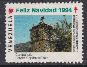 Venezuela - 1994 F-VF Used TB Seal Capilla del Tisure