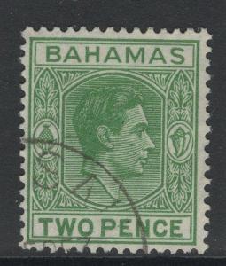 BAHAMAS SG152c 1951 2d GREEN FINE USED
