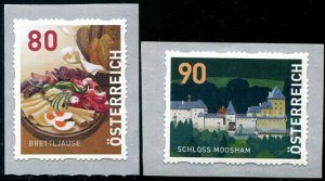 HERRICKSTAMP NEW ISSUES AUSTRIA Sc.# 2805-06 Food/Castle Self-Adhesive Coils