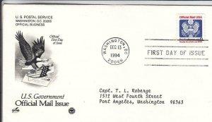 1994, G Official Mail, Artcraft/PCS, FDC (D15536)