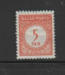 INDONESIA #J64 1951 5s POSTAGE DUE MINT VF LH O.G
