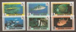 CAYMAN ISLANDS SG483/8 1979 FISH ( 2nd SERIES) MNH