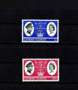 CAYMAN IS - 1966 - QE II - ROYAL VISIT - CARIBBEAN - MINT - MNH - SET OF 2!