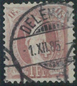 78445 - SWITZERLAND - STAMP: Michel  # 63D  11 1/2 * 12 Perf - Finely USED