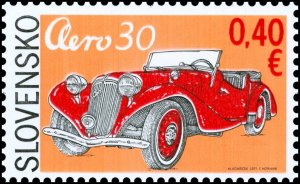 Stamps of Slovakia 2011. - Technical monuments: Historical cars - Aero 30