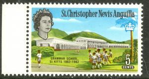ST. KITTS NEVIS 1963 QE2 5c GRAMMAR SCHOOL Scott No. 150 MNH