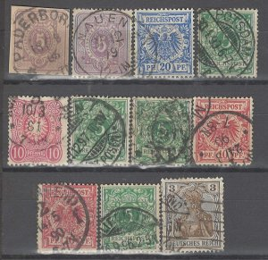COLLECTION LOT # 3649 GERMANY 11 STAMPS 1875+ CLEARANCE CV+$15
