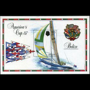 BELIZE 1987 - Scott# 862 S/S Sailing Ships NH