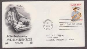 1910 American Red Cross ArtCraft FDC with neatly typewritten address