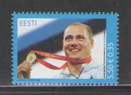 Estonia Sc 604 2008 Kanter Olympics stamp mint NH